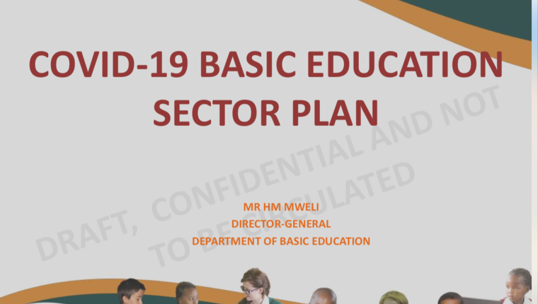 COVID-19 BASIC EDUCATION SECTOR PLAN