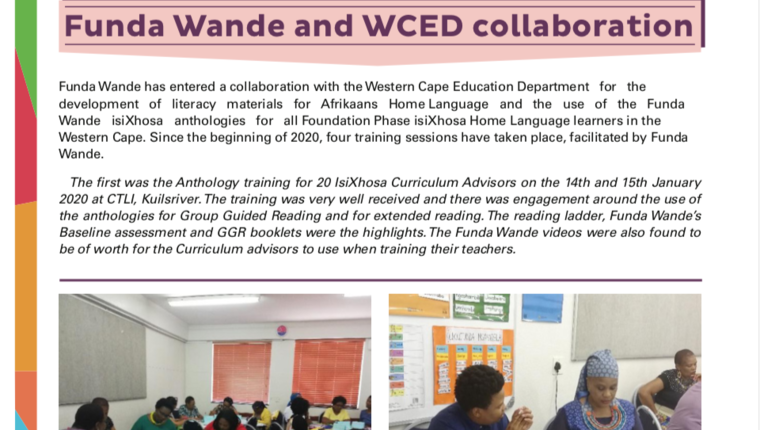Funda Wande and WCED collaboration