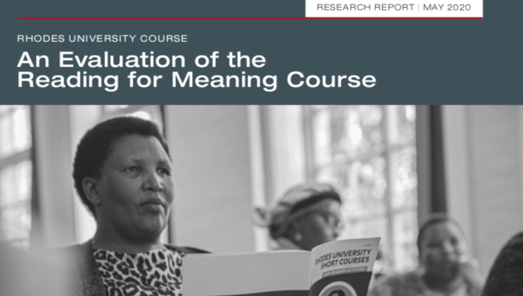 An Evaluation of the Reading for Meaning Course